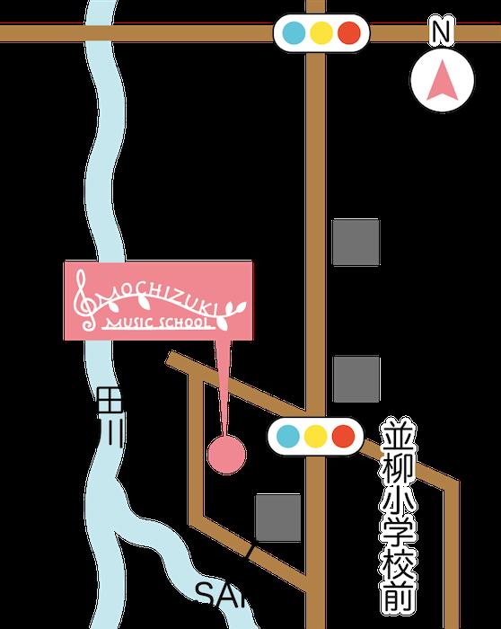 松本音楽教室・地図